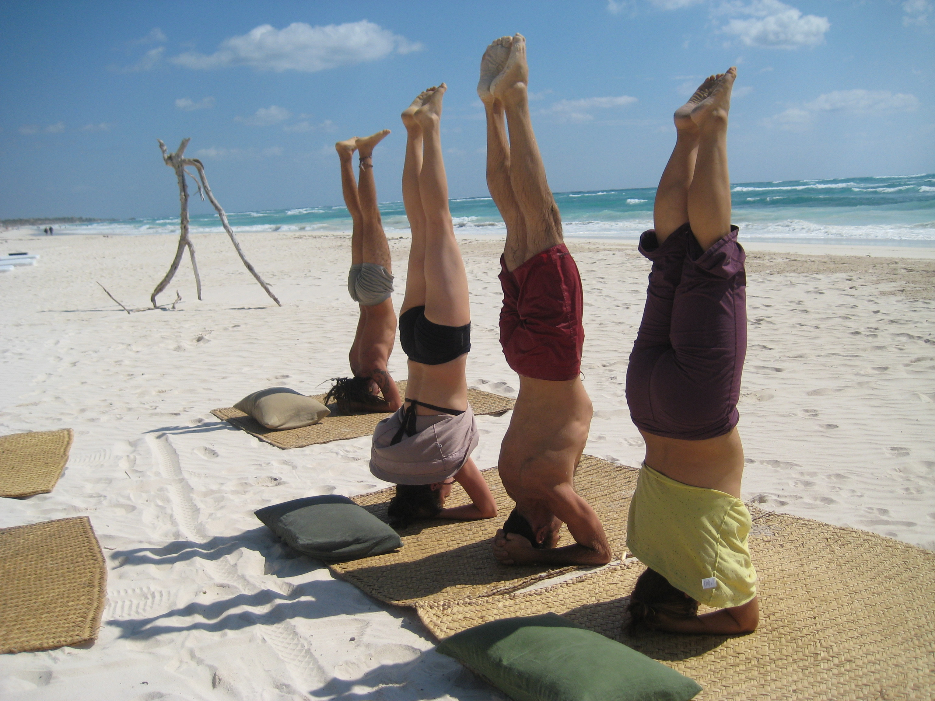 2006 first yoga retreat to Tulum
