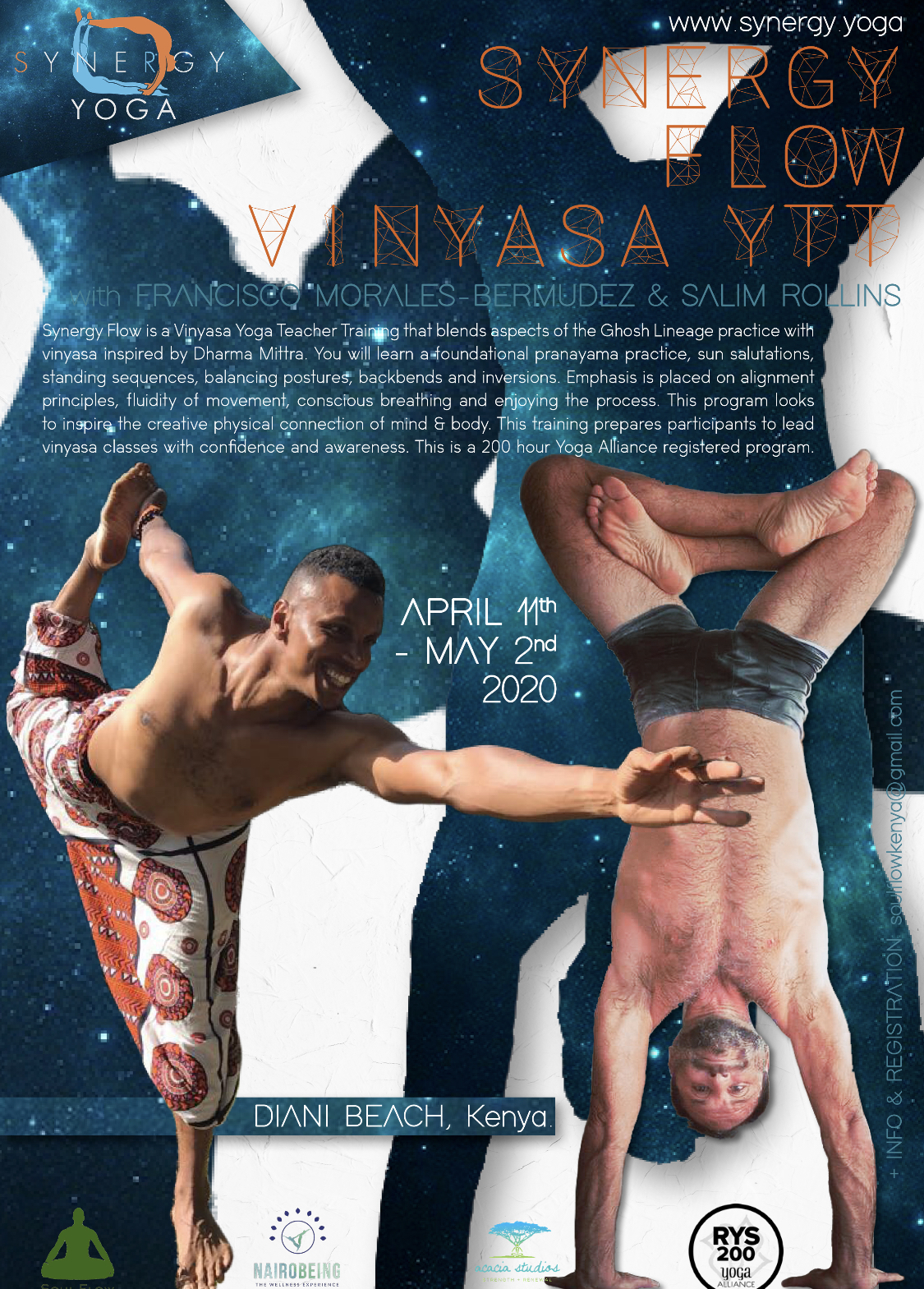 2020 First Synergy Flow Vinyasa Teacher Training in Nairobi Kenya w Salim Rollins